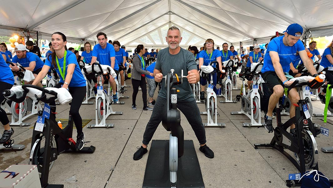Static cyclists raise record-breaking total for those with disabling injuries