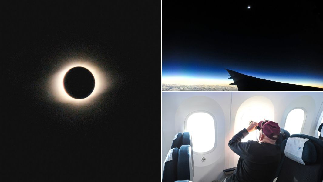 Solar eclipse 2019 above Easter Island, Chile