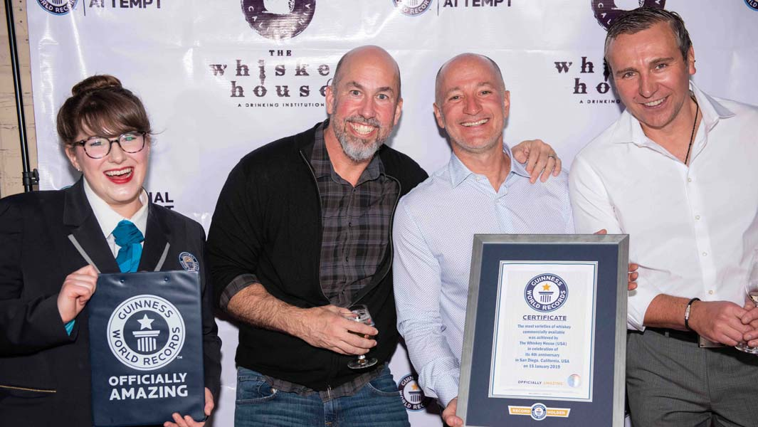 San Diego bar celebrates fourth anniversary with record-breaking whiskey collection