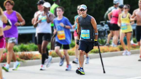 Monday Motivation: Larry Chloupek, one man, one leg, two records