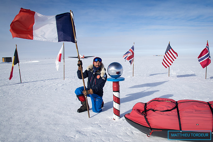 Youngest person reach South Pole