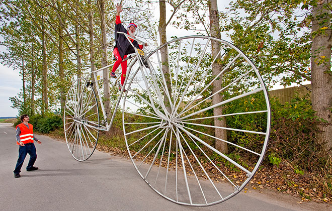Largest rideable bicycle