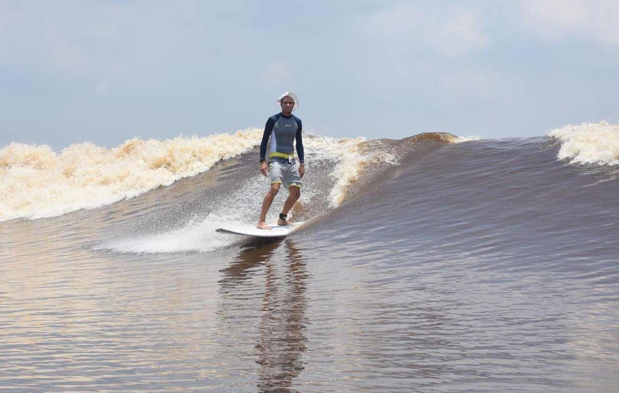 Longest surfing ride on a river bore