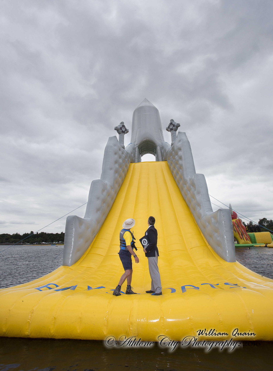 Tallest floating slide