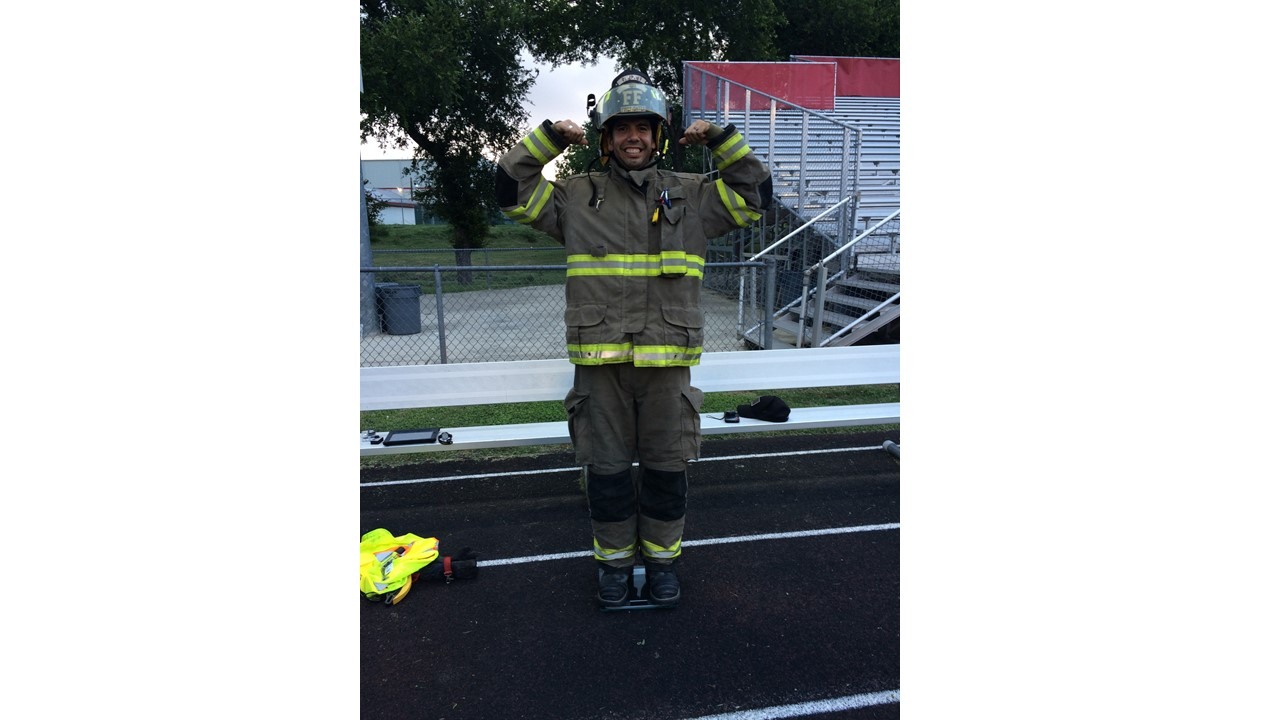 Fastest mile in a fireman's uniform