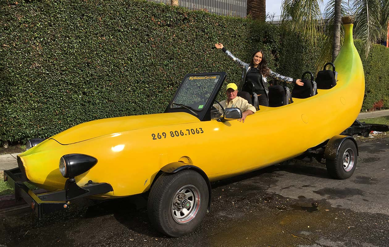 Longest custom banana car