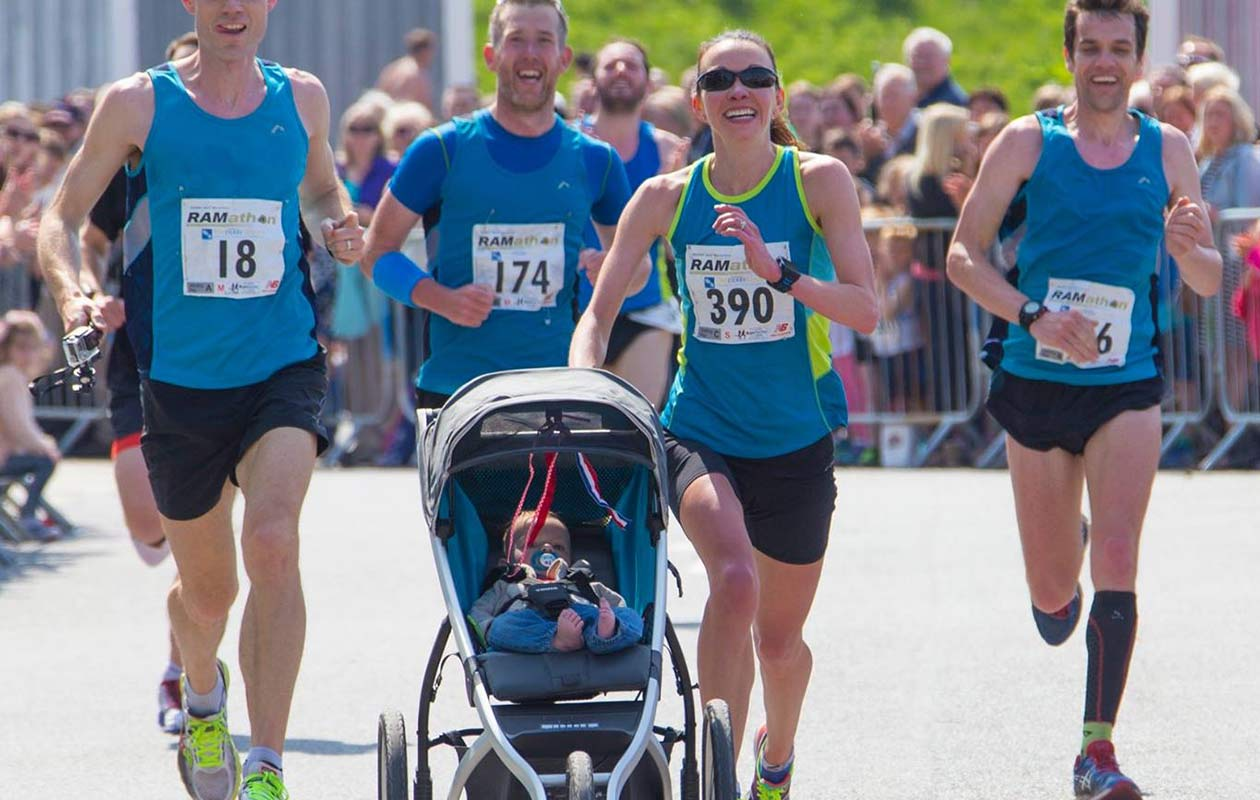 Fastest half marathon pushing a pram (female)