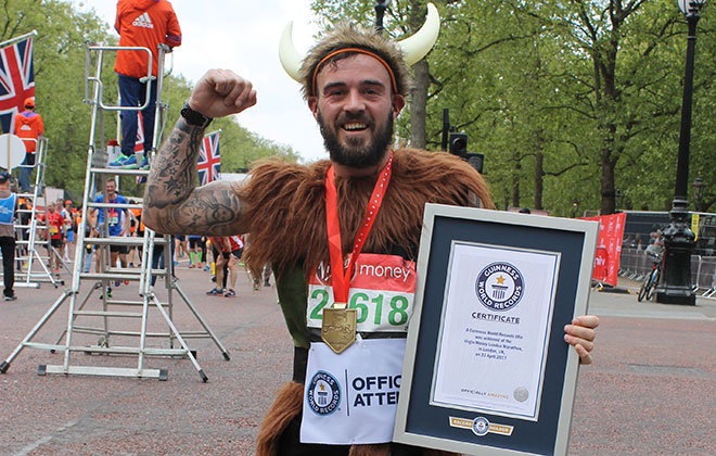 Fastest marathon dressed as a Viking