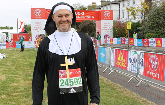Fastest marathon dressed as a nun