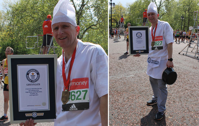 Fastest marathon dressed as a chef (male)
