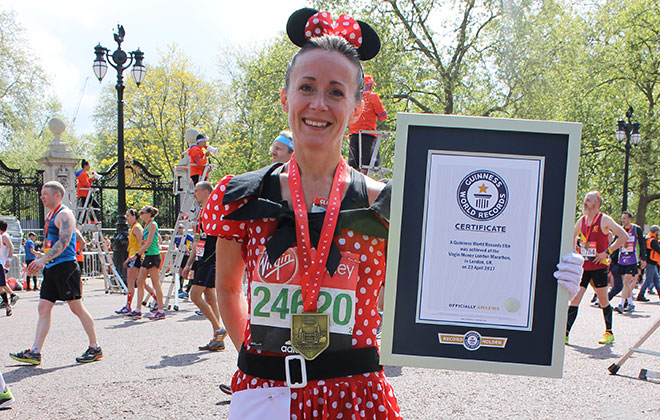 Fastest marathon dressed as a cartoon character (female)