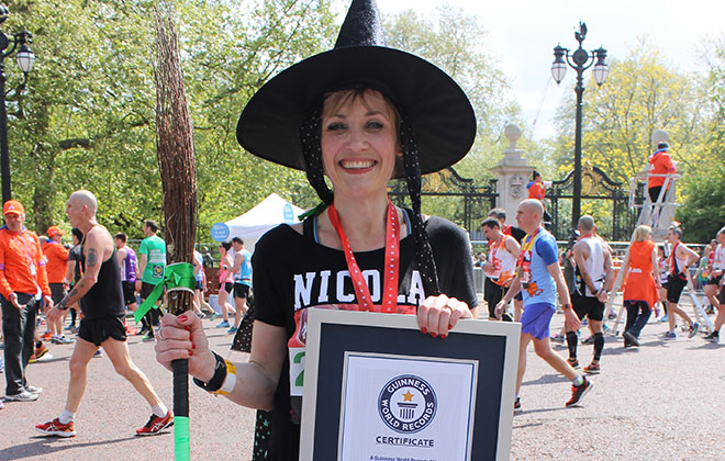 Fastest marathon dressed as a witch (female)