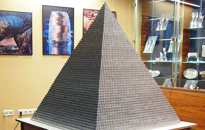 Largest coin pyramid