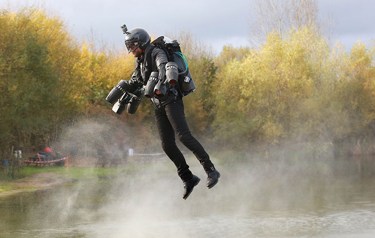 Fastest speed in a body controlled jet engine powered suit