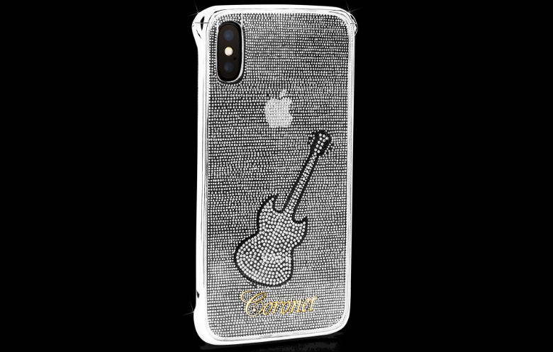 Most diamonds set on a mobile (cell) phone case