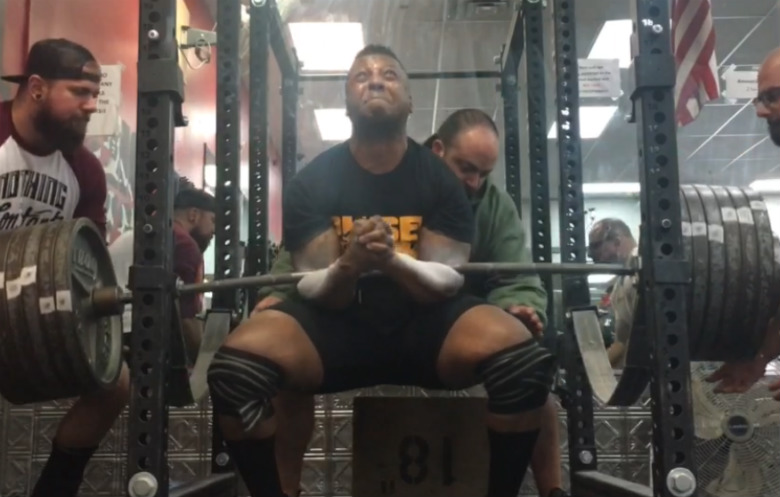 Heaviest zercher squat