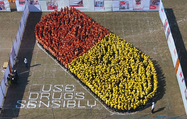 Largest human image of a medication capsule