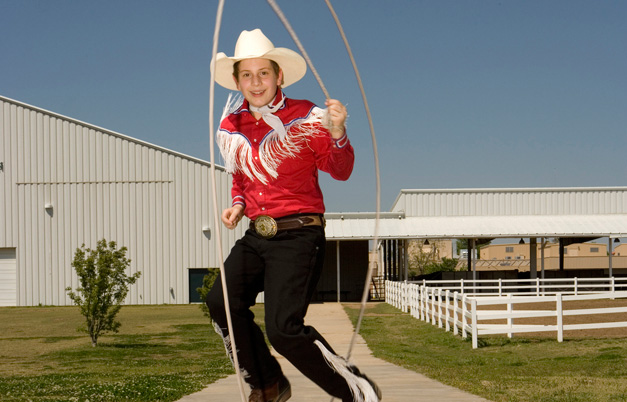 Youngest person to win the Wild West Arts' Texas skip race