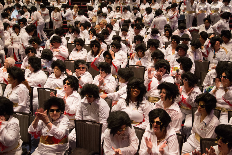 Largest gathering of Elvis impersonators
